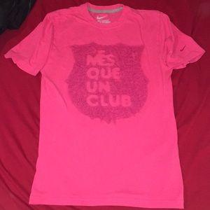 """Nike Barcelona FC """"Mes Que Un Club"""" shirt."""
